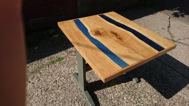 Side view of small river table