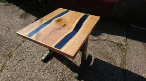 Front view of small river table